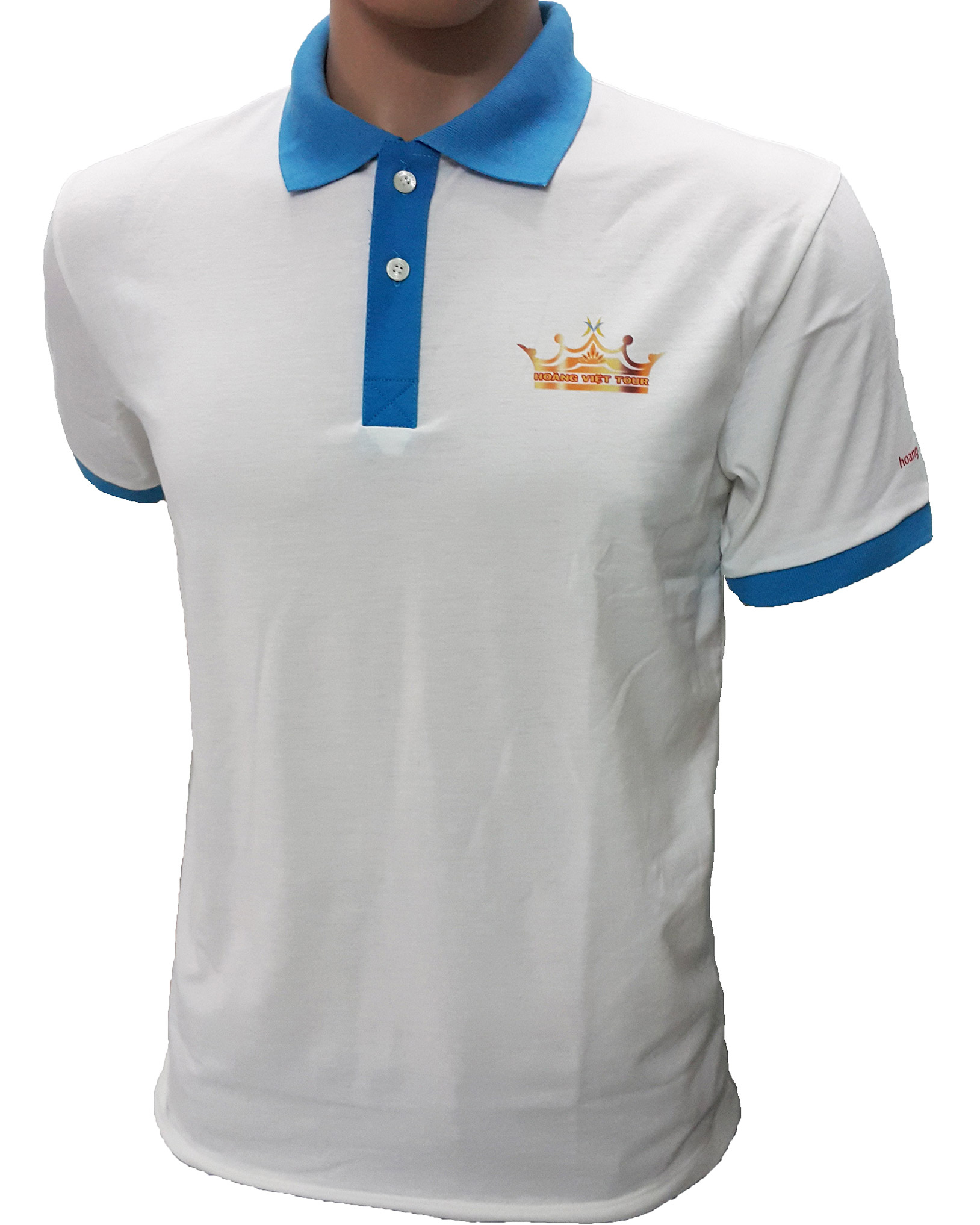 Mẫu áo thun đồng phục của Hoàng Việt Tour - mặt nghiêng