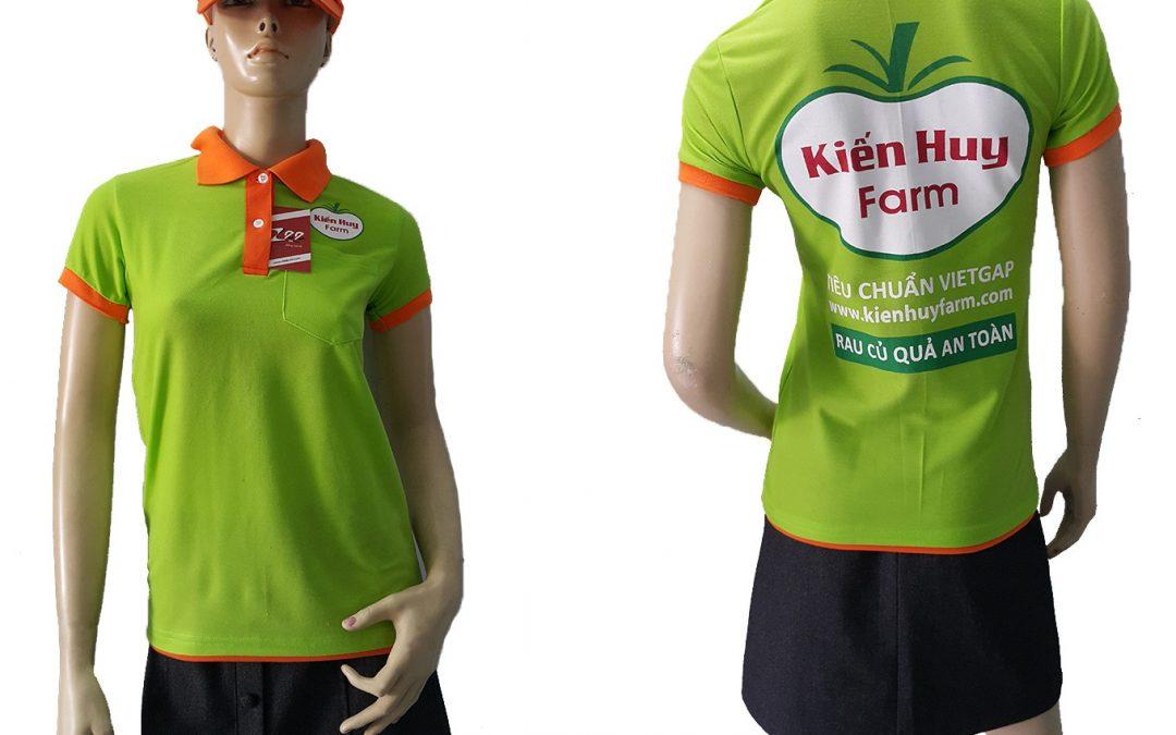Đồng phục áo thun và nón nông dân Kiến Huy Farm