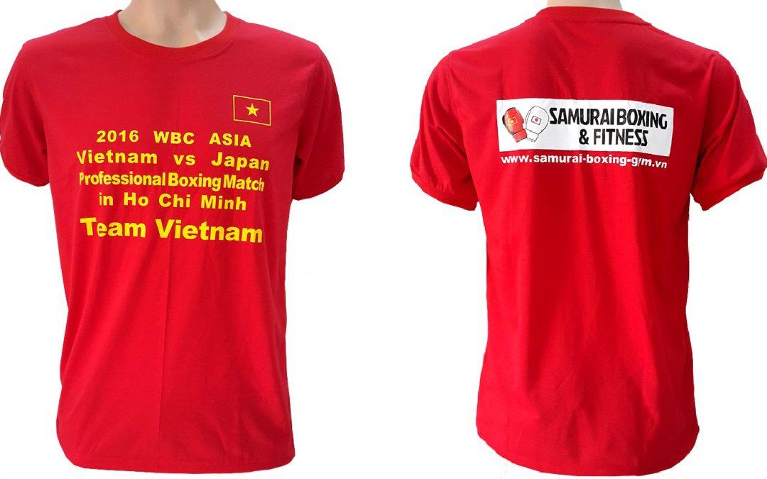 Đồng phục áo thun sự kiện Boxing giữa Việt Nam và Nhật Bản – màu đỏ