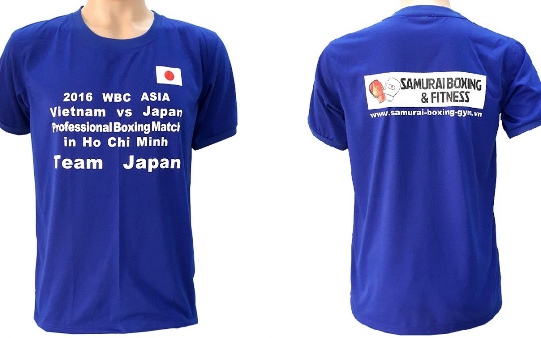 Đồng phục áo thun sự kiện Boxing giữa Việt Nam và Nhật Bản – màu bích