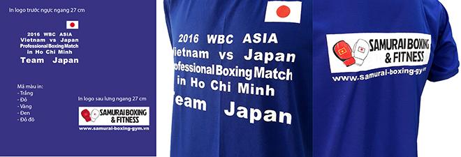 Đồng phục áo thun sự kiện Boxing - màu bích - in lụa logo