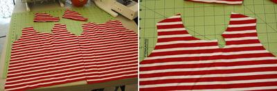 Gấp đôi áo để cắt sẽ giúp áo đối xứng.