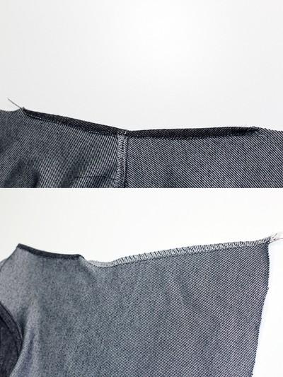 Gấp mép vải của tay áo và may cố định lại.