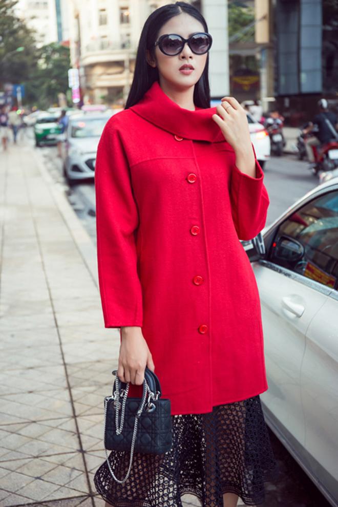 Gợi ý mặc áo khoác măng tô đẹp của Ngọc Hân vào những ngày se lạnh - hình 13 -zeeuni.com