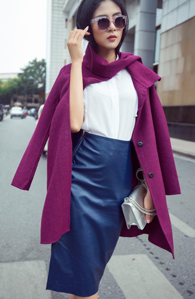 Gợi ý mặc áo khoác măng tô đẹp của Ngọc Hân vào những ngày se lạnh - hình 3 -zeeuni.com