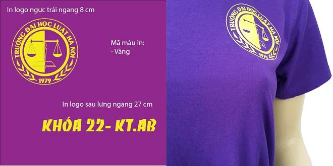 Đồng phục áo nhóm cựu sinh viên - màu tím - zeeuni.com - hình logo