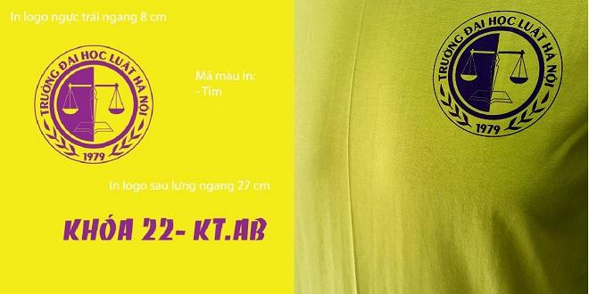 Đồng phục áo nhóm cựu sinh viên - màu vàng - zeeuni.com - hình logo