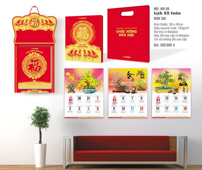 Lịch treo tường theo phong cách Bonsai