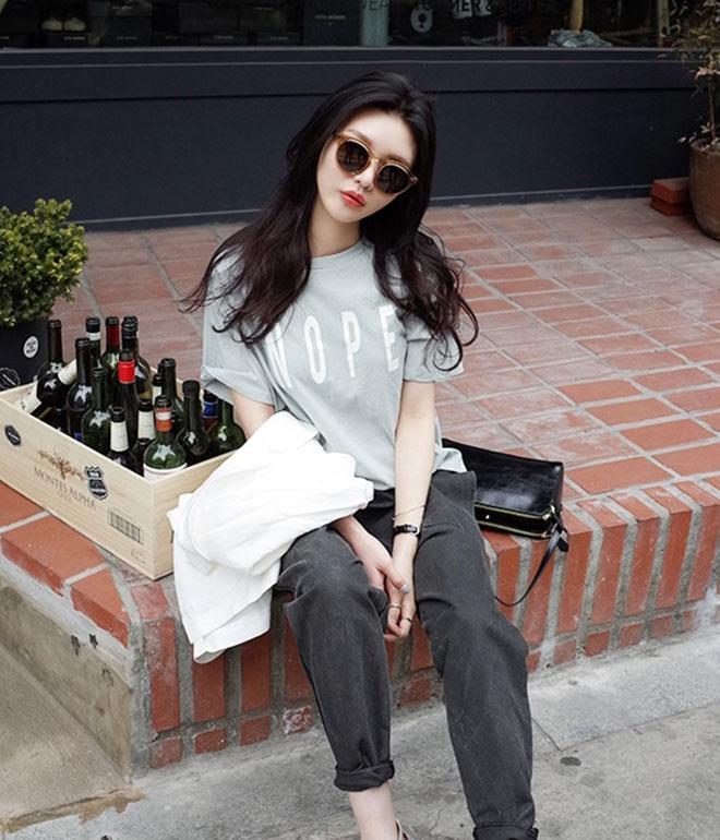 Mặc áo thun đẹp dành cho nữ - hình 19 - zeeuni.com