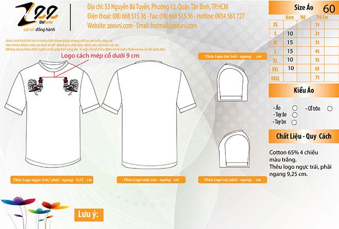 Market thiết kế áo thun nhóm con gà đại cát trên máy vi tính