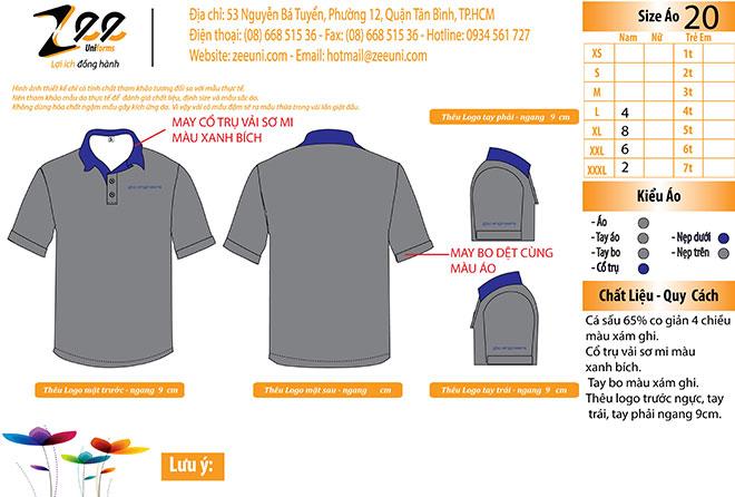 Market thiết kế áo thun đồng phục công ty bgo-engineers được thiết kế trên máy vi tính.