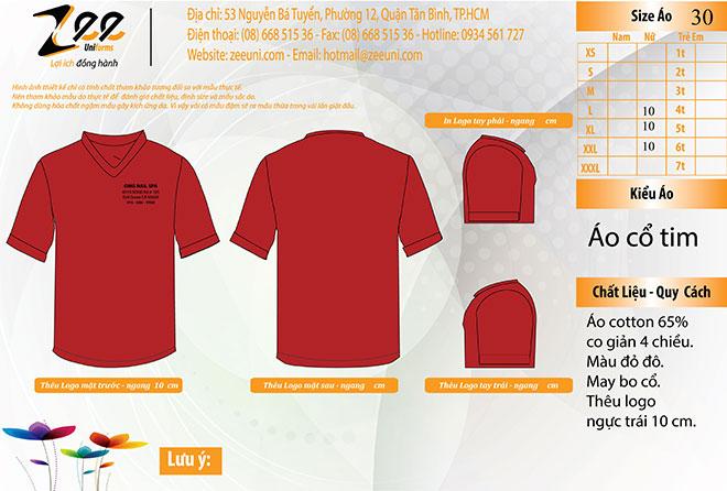 Market thiết kế áo đồng phục Nails Spa trên máy vi tính.
