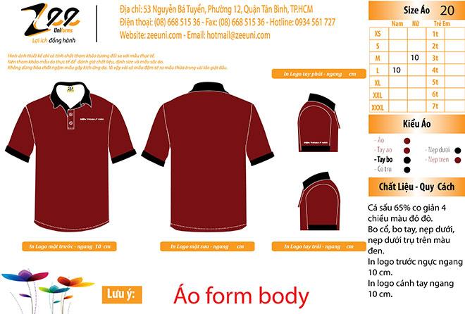 Market thiết kế áo thun đồng phục của tiệm điện thoại Lý Hảo.