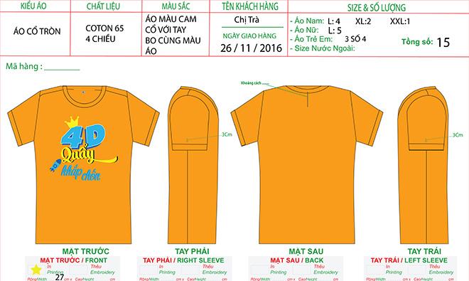 Mẫu thiết kế đồng phục gia đình 4D Quẩy Khắp Chốn