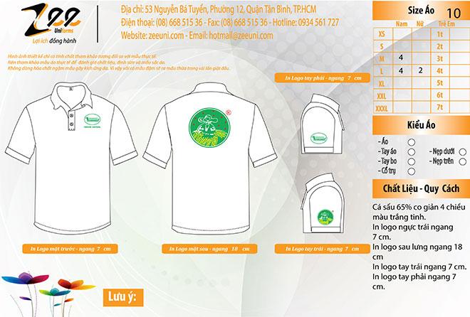 Market thiết kế áo thun đồng phục của công ty hóa chất Name Hae Chemical trên máy vi tính.
