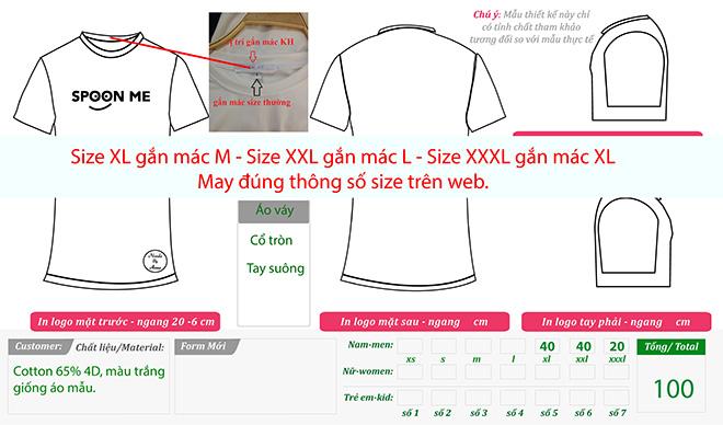 Market áo thun dáng dài Spoon Me - áo thun xuất khẩu sang Úc