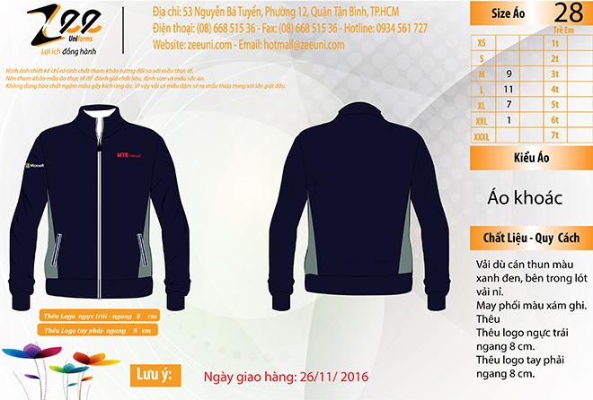 Market đồng phục áo khoác của công ty Microsoft.