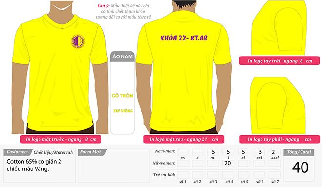 Market đồng phục áo nhóm cựu sinh viên - màu vàng - zeeuni.com