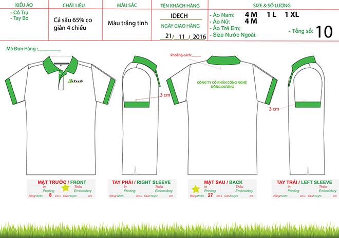 market đồng phục áo thun của công ty Công Nghệ Đông Dương