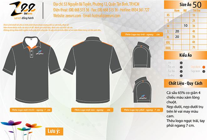 Market đồng phục áo thun công nhân Hải Phát - zeeuni.com