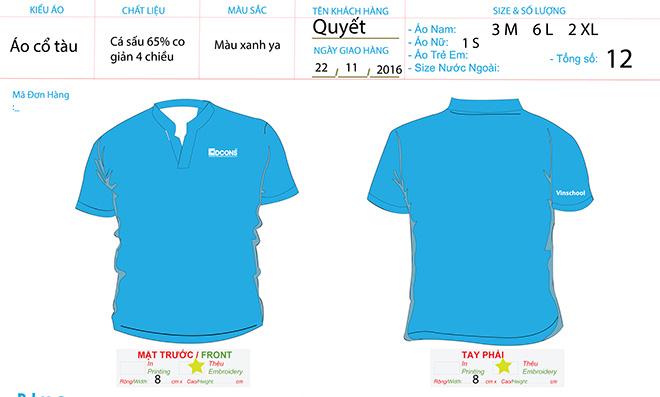 Market đồng phục áo thun của công ty DCONS
