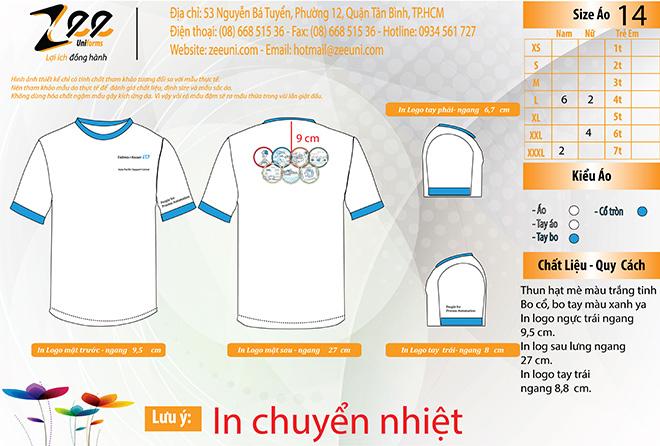 Market đồng phục áo thun số lượng ít của công ty Endress + Hauser trên máy vi tính.