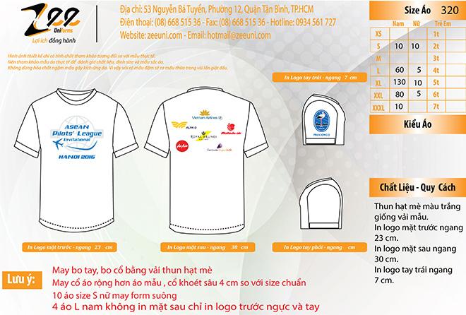 Market đồng phục áo thun sự kiện Asean Pilots' League