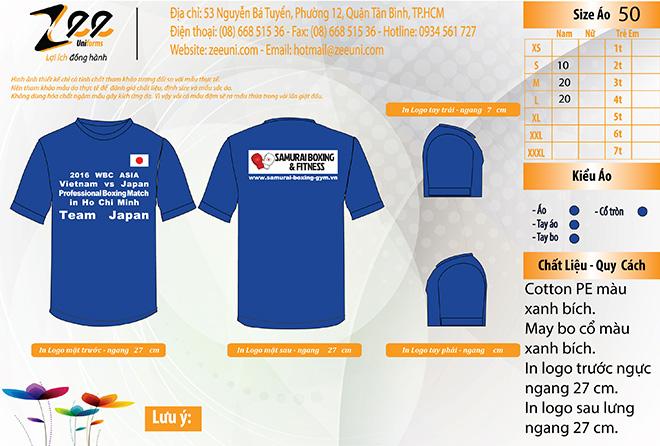 Market Đồng phục áo thun sự kiện Boxing - màu bích