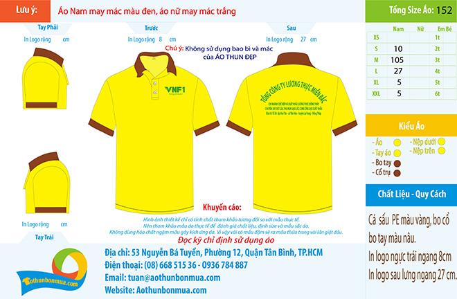 Đồng phục công nhân VNF1 - Tổng Công Ty Lương Thực Miền Bắc