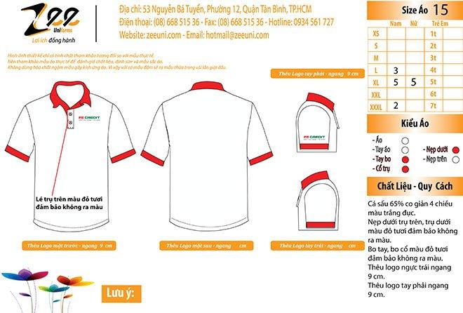 Market thiết kế áo thun đồng phục công ty FE Creadit trên máy vi tính.
