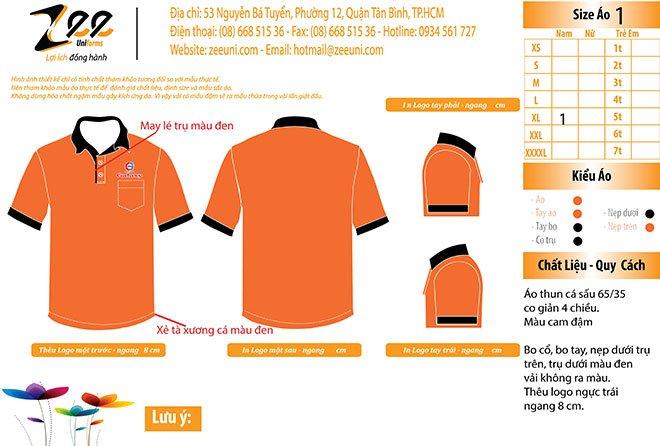 Mẫu thiết kế áo thun đồng phục Galaxy Blinds Group
