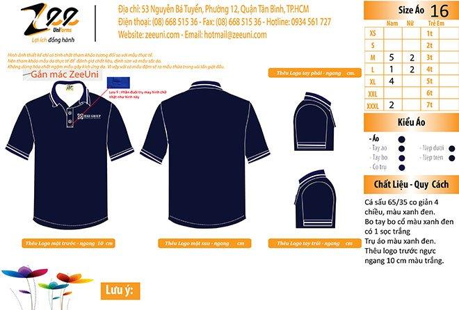 Mẫu thiết kế áo thun đồng phục Zeke Group