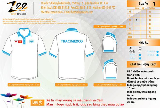 Market áo đồng phục xuất khẩu lao động Tracimexco