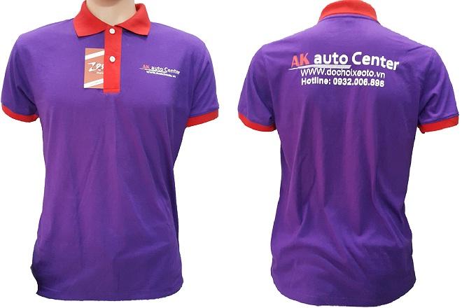 Áo thun đồng phục của AK Auto Center