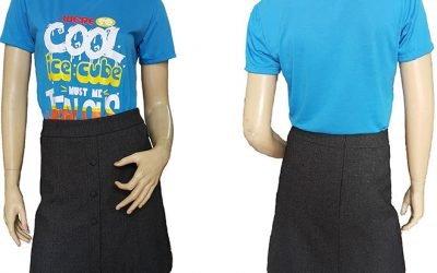 Mẫu áo thun đồng phục lớp Were So Cool đã may thành phẩm.