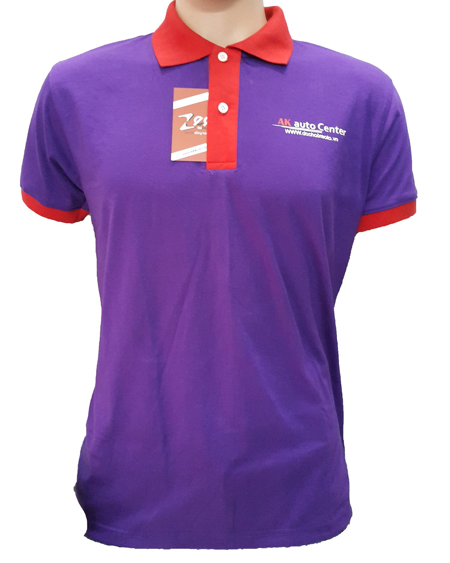 Mẫu áo thun đồng phục dịch vụ của AK Auto Center - mặt trước