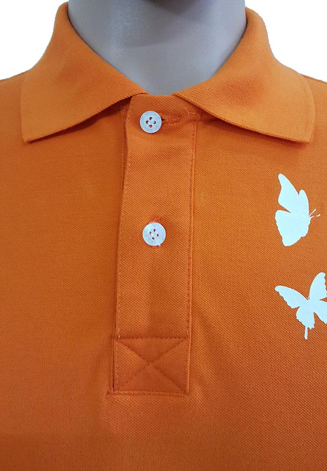 Hình ảnh nẹp cổ trụ của áo thun đồng phục 12a92 mẫu nam.