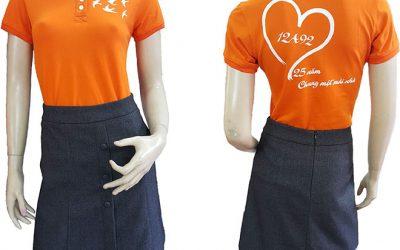 Mẫu áo thun đồng phục lớp 12A92 dành cho nữ.