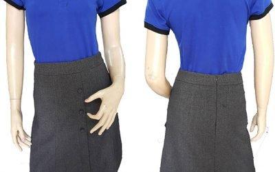 Mẫu áo thun đồng phục công ty Delta đã may thành phẩm.
