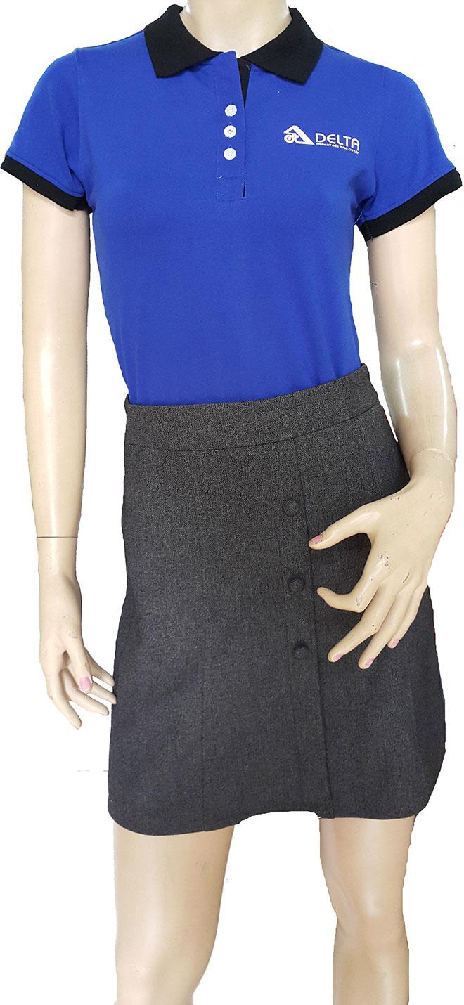 Form áo, chất liệu vải cao cấp mang đến dáng vẻ chuyên nghiệp cho chiếc áo đồng phục của công ty Dealta