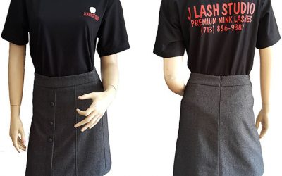 Áo thun đồng phục J Lash Studio