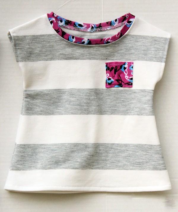 Hướng dẫn may áo thun cổ tròn không tay dành cho bé gái