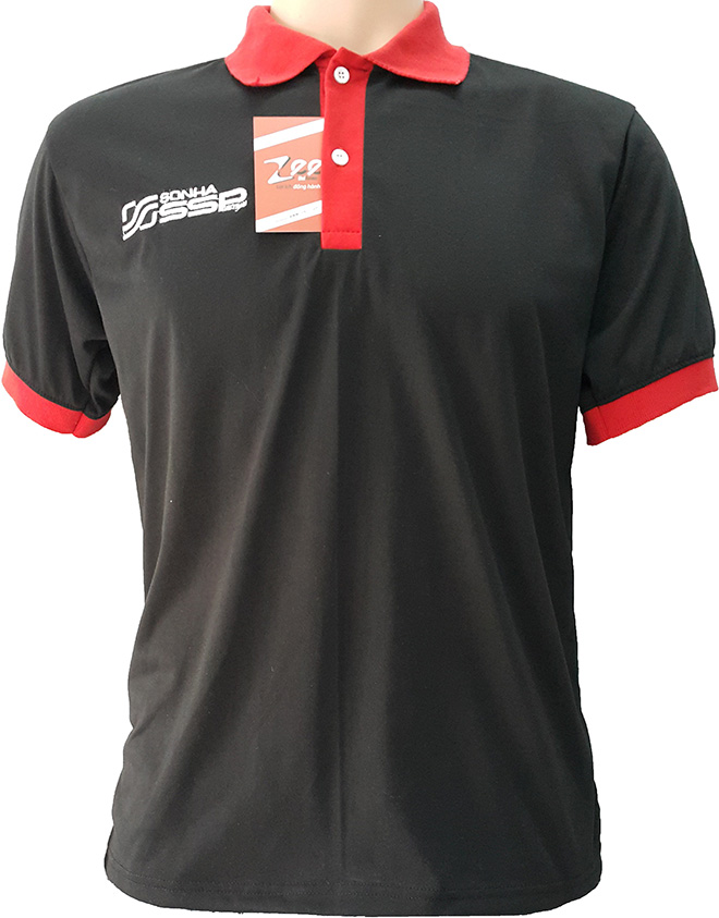 Chiếc áo thun quà tặng mà dầu nhớt tập đoàn Sơn Hà làm để tặng cho khách hàng - mặt trước