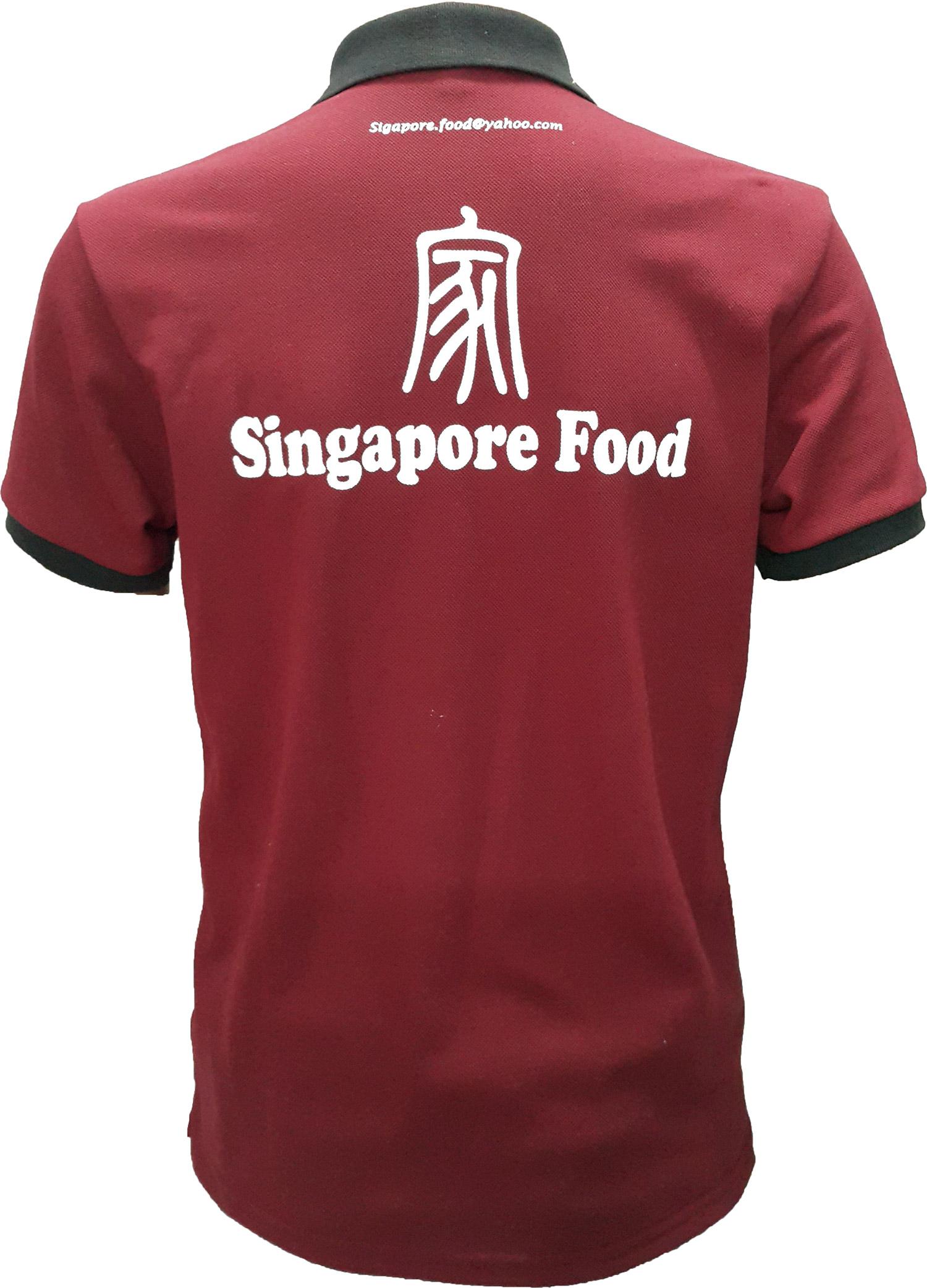 Áo thành phẩm của Singapore Food mặt sau