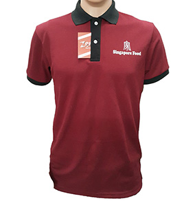 Mẫu áo thun đồng phục của Singapore Food