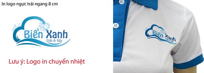 Đồng phục áo thun dịch vụ giặt ủi Biển Xanh - hình logo