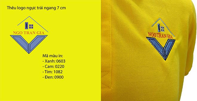 Đồng phục áo thun công ty Ngô Trần Gia - hình logo