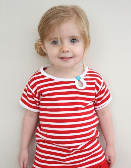 Cách may áo thun này áp dụng cho cả bé trai và bé gái.