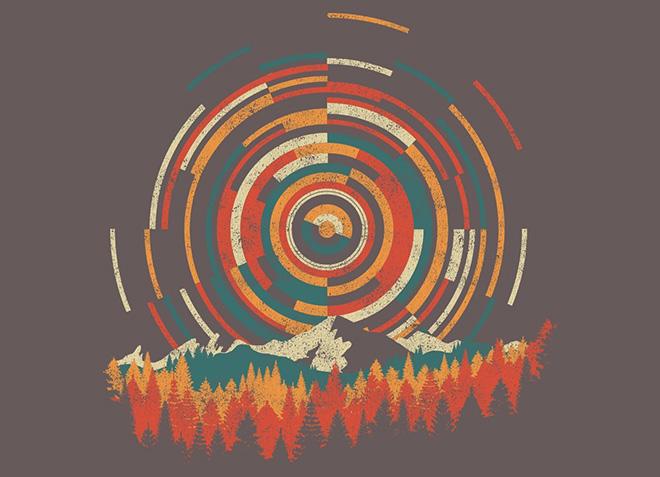 10 mẫu thiết kế áo thun đẹp nhất của Threadless - The Geometry Of Sunrise - Hình 1