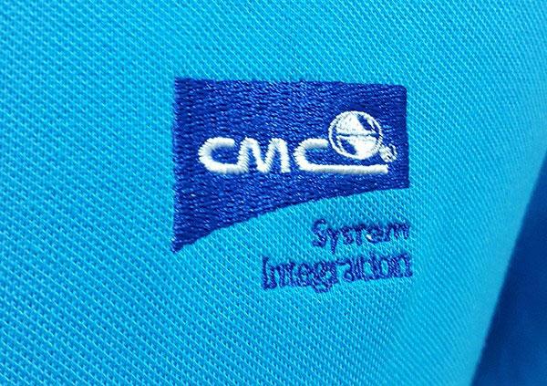 Thêu áo đồng phục tại Bình Dương logo CMC.